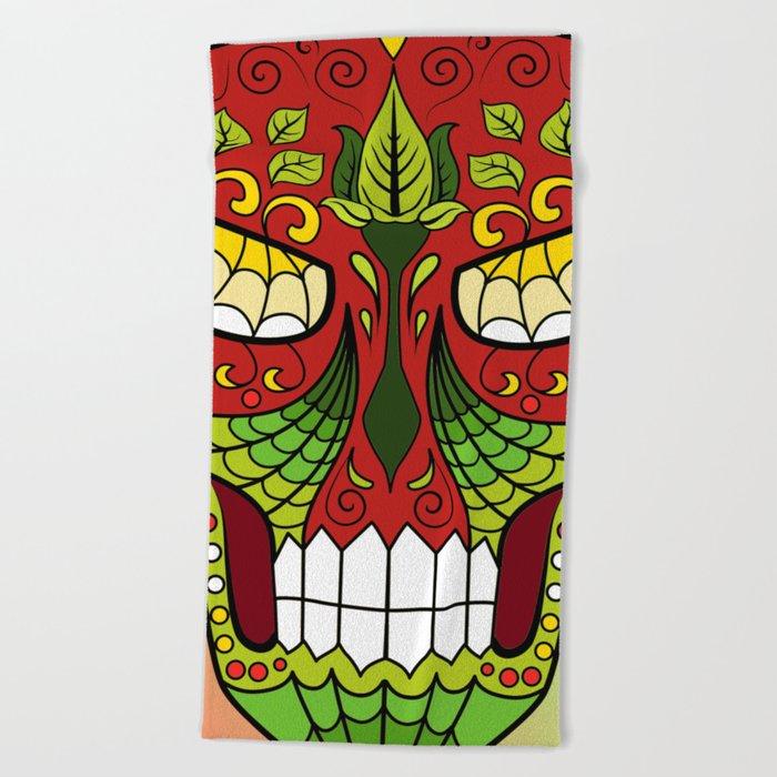 Sugar Skull #12 Beach Towel