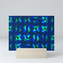 The highlights of the northern lights. Texture for a bedroom or space of the sky. Mini Art Print