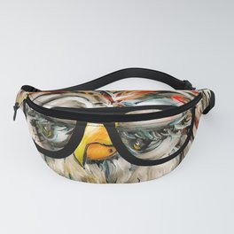 Hipster Owl Fanny Pack