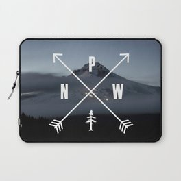 PNW Pacific Northwest Compass - Mt Hood Adventure Laptop Sleeve