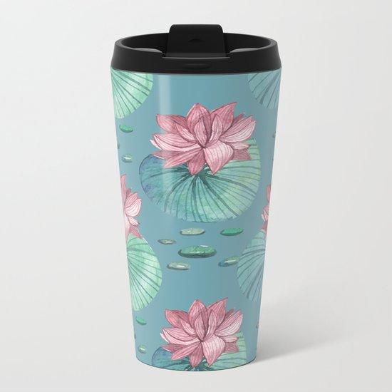 LOTUS FLOWERS Metal Travel Mug