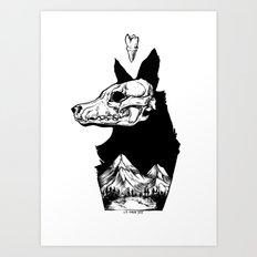 Black Wolf Mountain Art Print