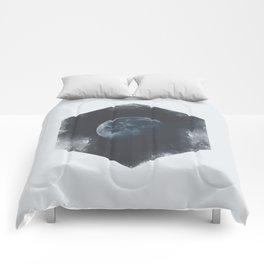 Minimalist Travel Poster - Moon Comforters