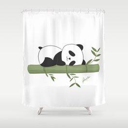 Sleeping panda Shower Curtain