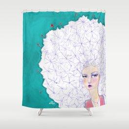 Puffball by Jane Davenport Shower Curtain