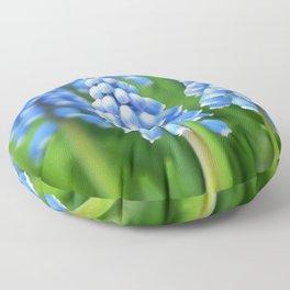 Blue Muscari Close Up Floor Pillow