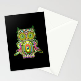 Owl Psychedelic Art Design Stationery Cards
