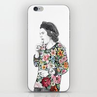coconutwishes iPhone & iPod Skins featuring Harry  sketch  by Coconut Wishes