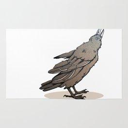 Crowing Crow Rug