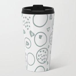 abstract pattern iv x blue grass Travel Mug