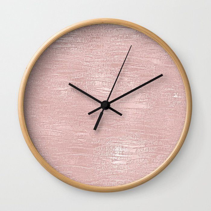 Metallic Rose Gold Blush Wall Clock