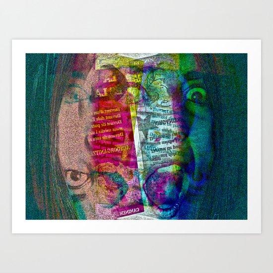 Wednesday 14 November 2012: official versus actual realities (?) Art Print