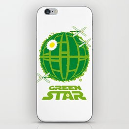 Green Star iPhone Skin