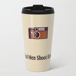 Real men shoot RAW Travel Mug