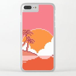 Sunset on Coco Island Clear iPhone Case