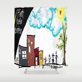 Flint Youth Center Shower Curtain