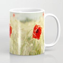 Poppy in the grain field Coffee Mug