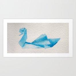 Origami-Swan Art Print