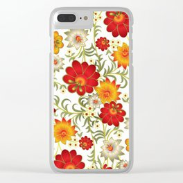 Art Flowers V5 Clear iPhone Case