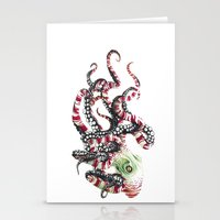 poop Stationery Cards featuring Poop pulpo by Javier Medellin Puyou aka Jilipollo