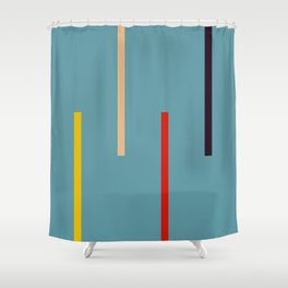 Abstract Classic Stripes Mirian Shower Curtain