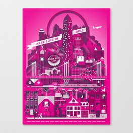Make Love In MPLS Canvas Print