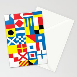 International Alphabetical Marine Signal Flags Stationery Cards