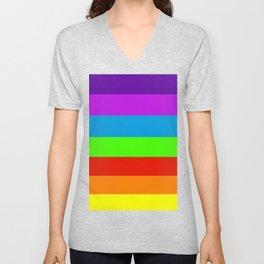 Fluorescent Rainbow |7 Colours Unisex V-Neck