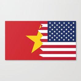 Half Vietnamese American Flag Canvas Print