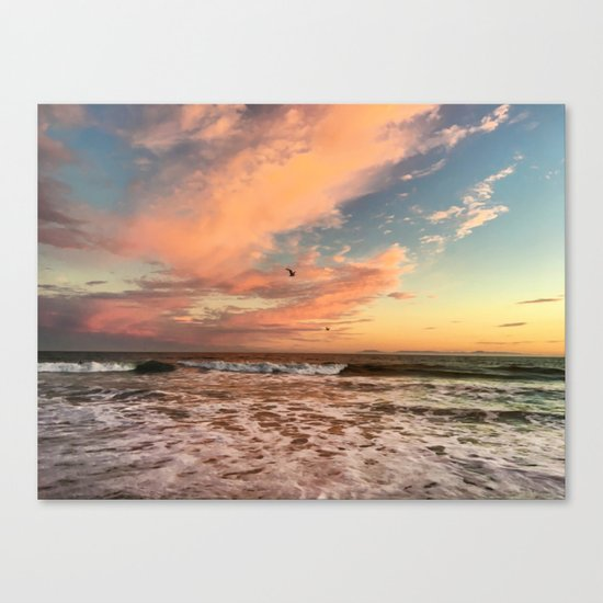 Cotton Candy Sunset Canvas Print