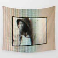 "tv Wall Tapestries featuring ""TV SCREEN"" by Dmitry  Buldakov"