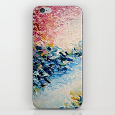 PARADISE DREAMING Colorful Pastel Abstract Art Painting Textural Pink Blue Tropical Brushstrokes iPhone & iPod Skin