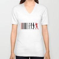 evolution V-neck T-shirts featuring Evolution by Artbox designs