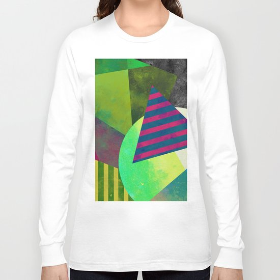 Textured Shapes - Abstract, geometric artwork Long Sleeve T-shirt