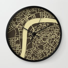 London Map Vector Wall Clock