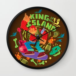 King of the Island Wall Clock