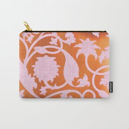 Pink Lotus Pattern Carry-All Pouch