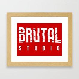 Brutal Studio Red Logo Framed Art Print