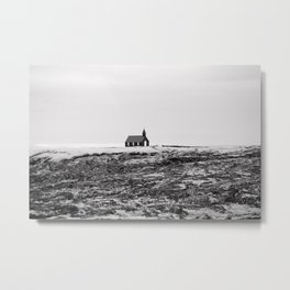 Black and White Photograph - Travel photography Metal Print