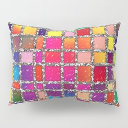 Stained Glass Window Multicolour Pattern Pillow Sham