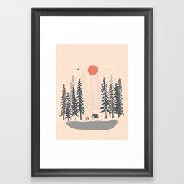 Feeling Small in the Morning... Framed Art Print