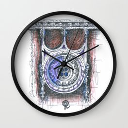 quinta da regaleira window Wall Clock