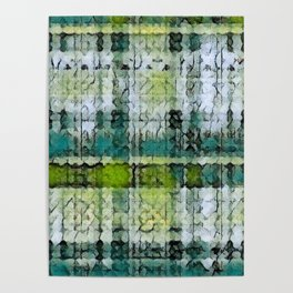 Forest Marmalade Plaid Poster