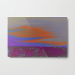 """Twilight Meadow"" (Magenta/Orange) Digital Painting // Fine Art Print Metal Print"