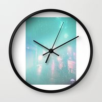 umbrella Wall Clocks featuring Umbrella by ONEDAY+GRAPHIC