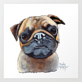 I AM A PUG by Shirley MacArthur Art Print