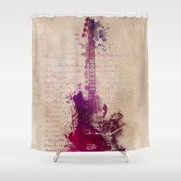 purple guitar Shower Curtain