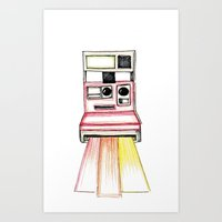 polaroid Art Prints featuring Polaroid by Ilariabp.art