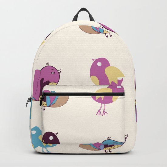 Cute Birds Pattern Backpack