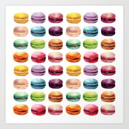 Macaroons Stacked Art Print